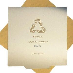 Image 1 - ENERGETIC 3D 인쇄 침대 이동식 스프링 스틸 PEI 빌드 표면 플렉스 플레이트 235x235mm Ender 3 3D 프린터 용