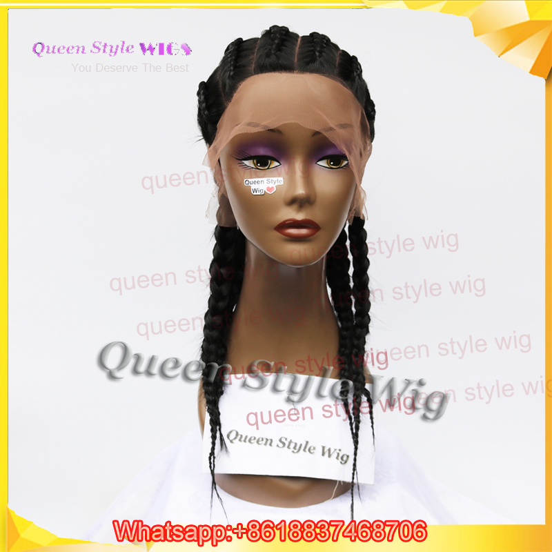 Hot Sale Dutch Braids Full Lace Wig Synthetic African