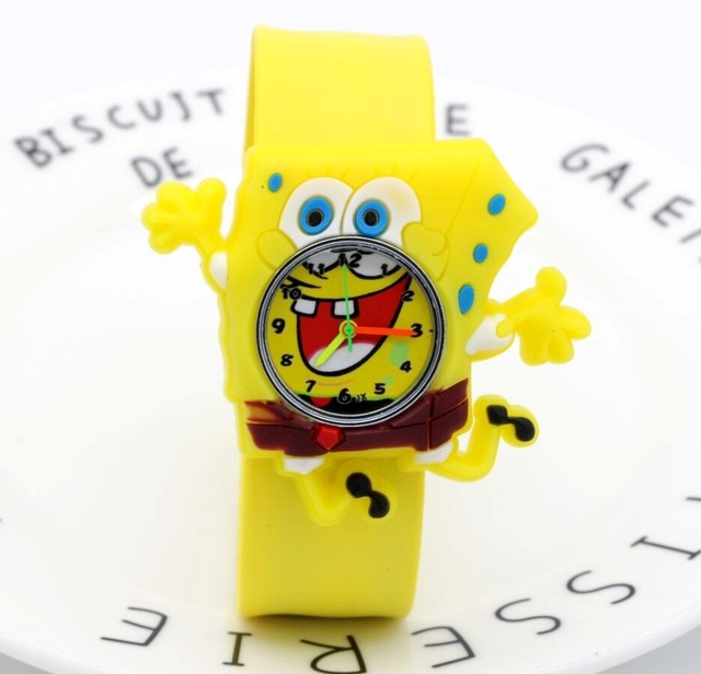 New famous 3D cartoon jelly silicone Slap children quartz watches boys girls hol