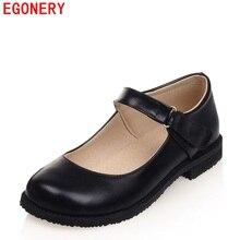 EGONERY Повседневная квадратный носок старинные самоклеящаяся лента ремня на резиновой плоской подошве женские весенние Air удобная обувь плюс Размеры