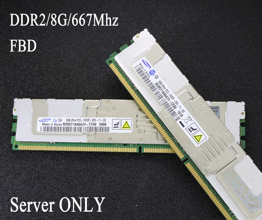 Original Samsung 8G 667 8GB 4G 4GB 16GB DDR2 667MHz PC2-5300 radiator FBD ECC Server memory FB-DIMM RAM ddr 2 pc2-5300f