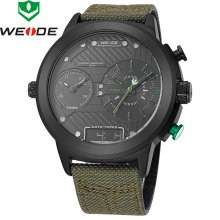 2018 New Luxury Brand Weide Men Watches Nylon Strap Quartz Clock Led Digital Military Watch Sport Wristwatch Relogio Masculino