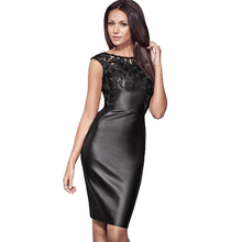 Sexy Lace Summer Leather Elegant party Dress