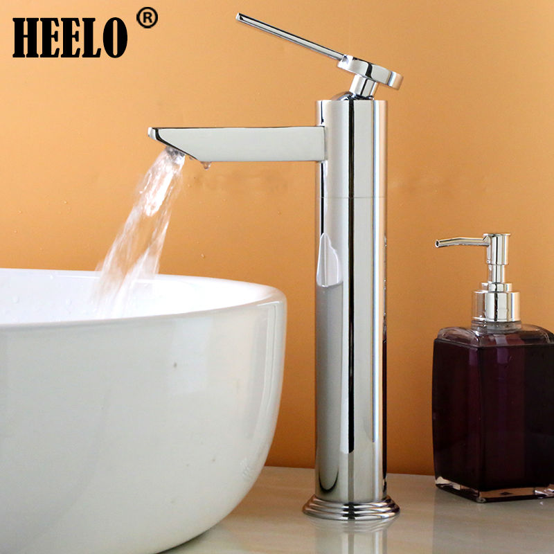 Tall brass bathroom faucets vanity mixer high waterfall wash basin faucet декор lord vanity quinta mirabilia grigio 20x56