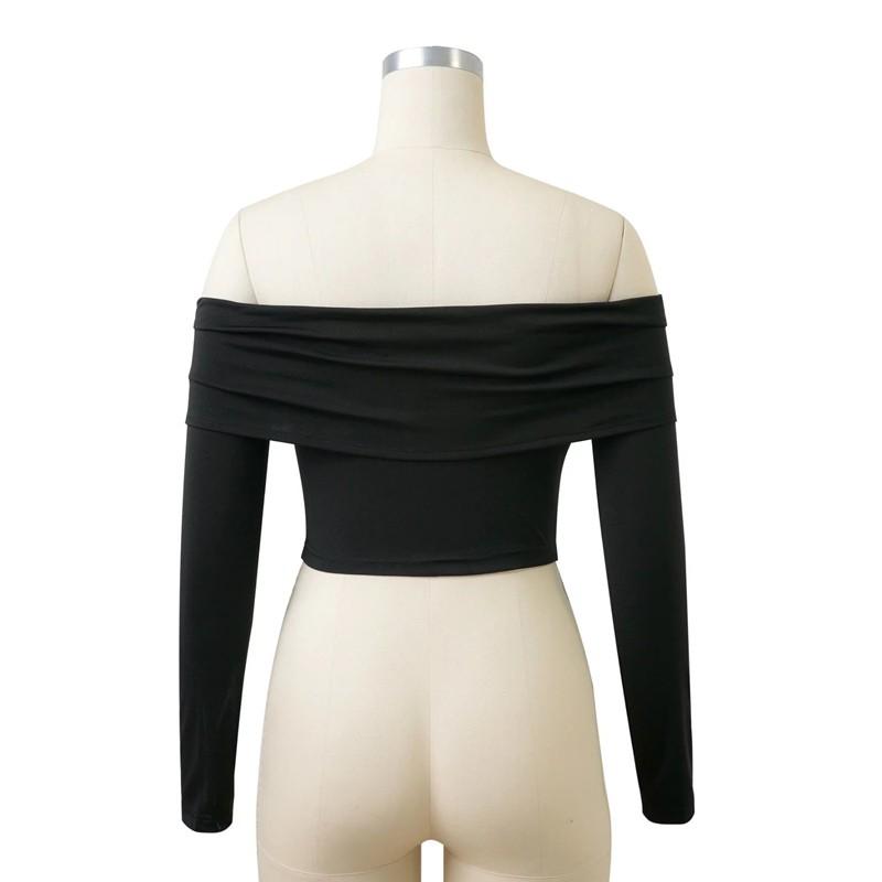 HTB1nsQsOFXXXXaKaXXXq6xXFXXXe - Women Slash Neck Off Shoulder Crop Top Long Sleeve Sexy JKP024