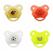 Baby Soother Sleeping Flat Pacifier Funny Hilarious Newborn Silicone Nipple Baby Pacifier Soother(China)