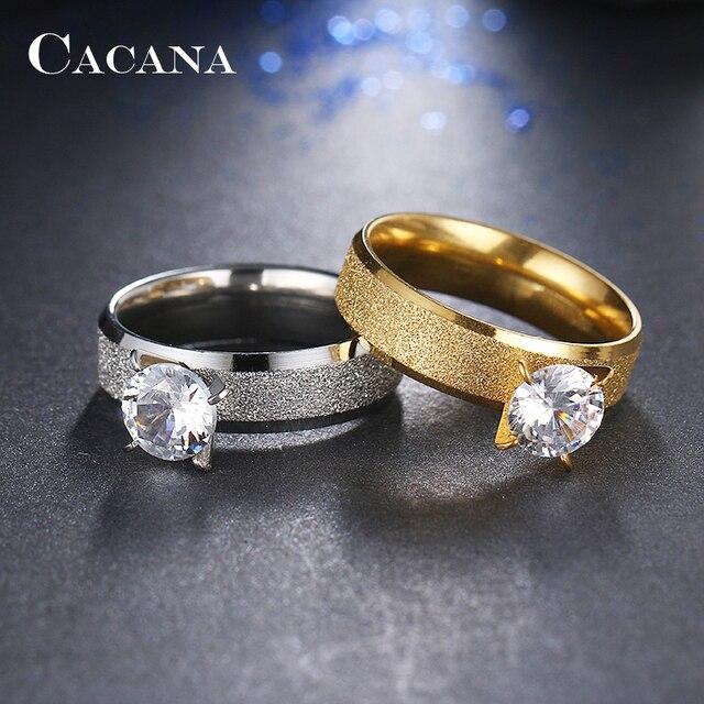 Женские кольца из нержавеющей стали cacana стильные персонализированные