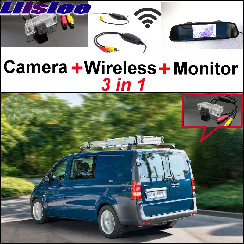 Liislee 3in1 Special WiFi Camera + Wireless Receiver + Mirror Screen Rear View Back Up Parking System For Mercedes Benz MB Viano liislee for mercedes benz cl mb w216 cls w218 special camera wireless receiver mirror screen 3in1 backup parking system