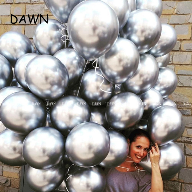 10pcs/lot New Glossy Metal Pearl Latex Balloons Thick Chrome Metallic Colors Inflatable Air Balls Globos Birthday Party Decor