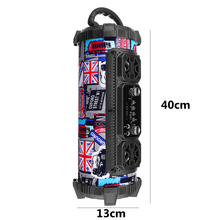 20W Portable Sports Wireless Bluetooth Stereo Subwoofer Speaker Hip Pop Caixa De Som Adjustable Bass Outdoor Loundspeaker Player