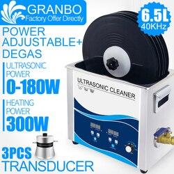 Podkładka winylowa 6.5L myjka ultradźwiękowa 180W z uchwytem podnośnikowym wodoodporna do płyty Lp Album EP czyszczenie w Myjki ultradźwiękowe od AGD na