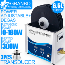 Vinyl Records Washer 6.5L Ultrasonic Cleaner 180W with Lifter Bracket Waterproof for Lp Album Disc EP