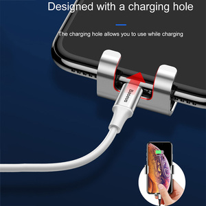 Image 5 - Baseus Car Phone Holder for Car Air Vent / CD Slot Mount Phone Holder Stand for iPhone Samsung Metal Gravity Mobile Phone Holder