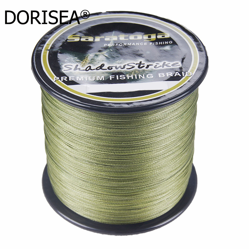 Saratoga 8 가닥 100 % PE 땋은 낚싯줄 Multifiament Fishing Wire 300m / 330yard 6LB 30LB 40LB 60LB 80LB 100LB 200LB 300LB