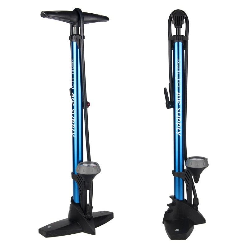 Giyo pompe de plancher de vélo avec jauge Presta Schrader adaptateur de Valve 160Psi pied pompe à vélo gonfleur d'air pompe à pneu route vtt pompe à vélo - 4