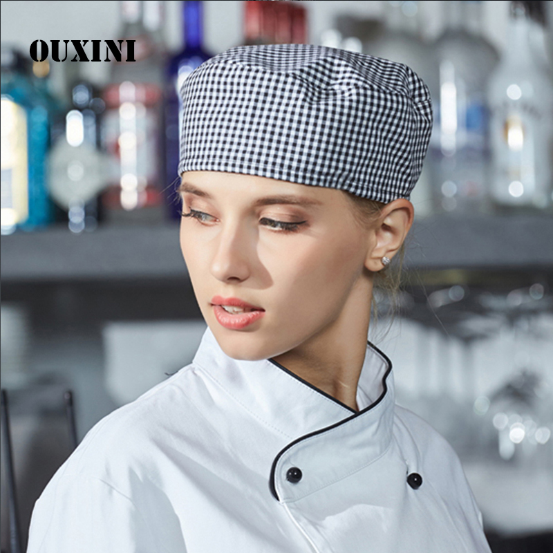 Chef Hat/Bar Cap Quality Waiters Working Hat For Men And Women In The Kitchen Hotel Restaurants Hat For Cook Cafe  Kitchen Hat