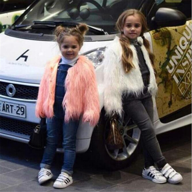c57c06335f8f Fashion Fur Jackets For Girls Autumn Kids Jackets And Coats ...