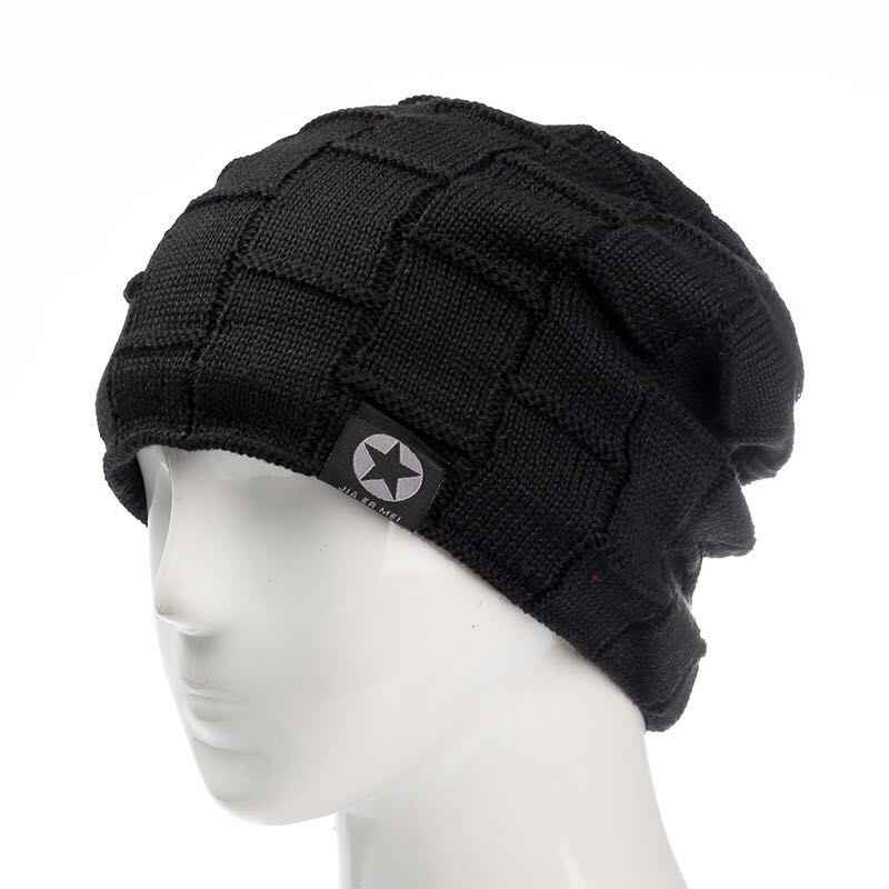 2a29fca16ff ... 2018 Unisex Fleece Lined Beanie Hat Knit Wool Warm Winter Hat Thick  Soft Stretch Hat For ...
