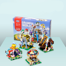 XingBao Fairground Blocks Ferris Wheel Bricks Merry Go Round Building compatible with LOGO Toys for Children Gift