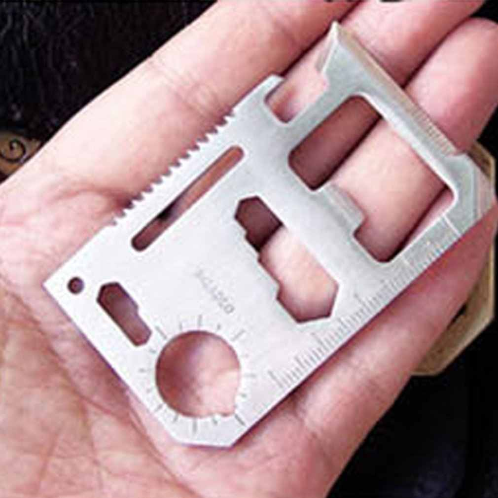 11 ใน 1 มัลติฟังก์ชั่บัตรเครดิตมีดใบมีดกลางแจ้ง Survival Camping แบบพกพากองทัพมีดยูทิลิตี้เครื่องมือความแข็งสูง