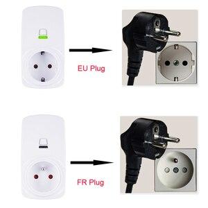 Image 3 - Tonbux AU/FR/EU/UK Plug Smart Wifi Plug LED Light Display Google Home Accept Alexa Control Assistant Smart Power Socket