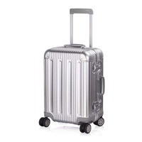 Aluminum Luggage Carry On Spinner Hard Shell Suitcase Lightweight Metal Suitcases TSA Unlock (Silver 202429 Inch)