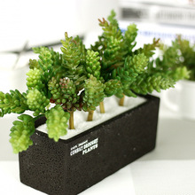 High Quality 1 PC Real Touch Succulent Plants Fake Indoor Plant Simulation  Green Artificial Plant Home