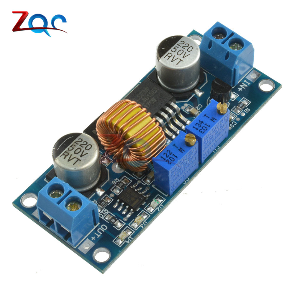 цены CC/CV 5A Lithium Charger Board XL4015 Adjustable 6-38V To 1.25-36V DC Step Down Power Supply Buck Module