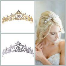 New Alloy Rhinestone Crown Birthday Crown Fine Crown Dinner Party Princess Crown Bridal Jewelry crown xli2500