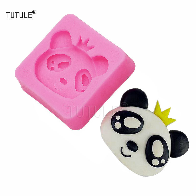 Gadgets-Hot Sale Rushed Fda Lfgb Cute Cartoon Panda Prince Fondant Cake Mold Diy Biscuit Chocolate Baking Cakes DecoratedTools