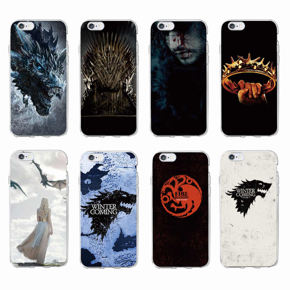 For iPhone 11 Pro Max 7 7Plus 6 6S 8 8Plus X 5 5S SE XS Max Game Thrones Wolf  Soft Transparent Phone Case Cover Coque Fundas