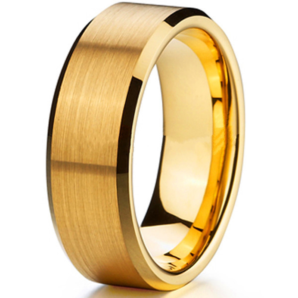 Very best Hot Sale 8MM Matte Finish Free Shipping Tungsten Ring Mens 18k  FK96