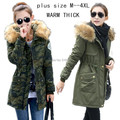 New 2015 warm Winter Jacket women casual female Parka Hoodie cotton-padded thick jackets fur Parkas woman plus size M-4XL