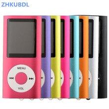 Zhkubdl reprodutor de vídeo 4th 1.8 polegadas, com rádio fm mp4 e 2gb 4gb 8gb cartão tf sd 16gb 32gb, frete grátis