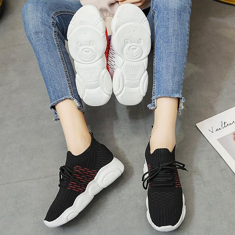Respirant filles chaussures Sneakers femme chaussures femmes loisirs sport chaussures automne 2019 chaussures peu profondes