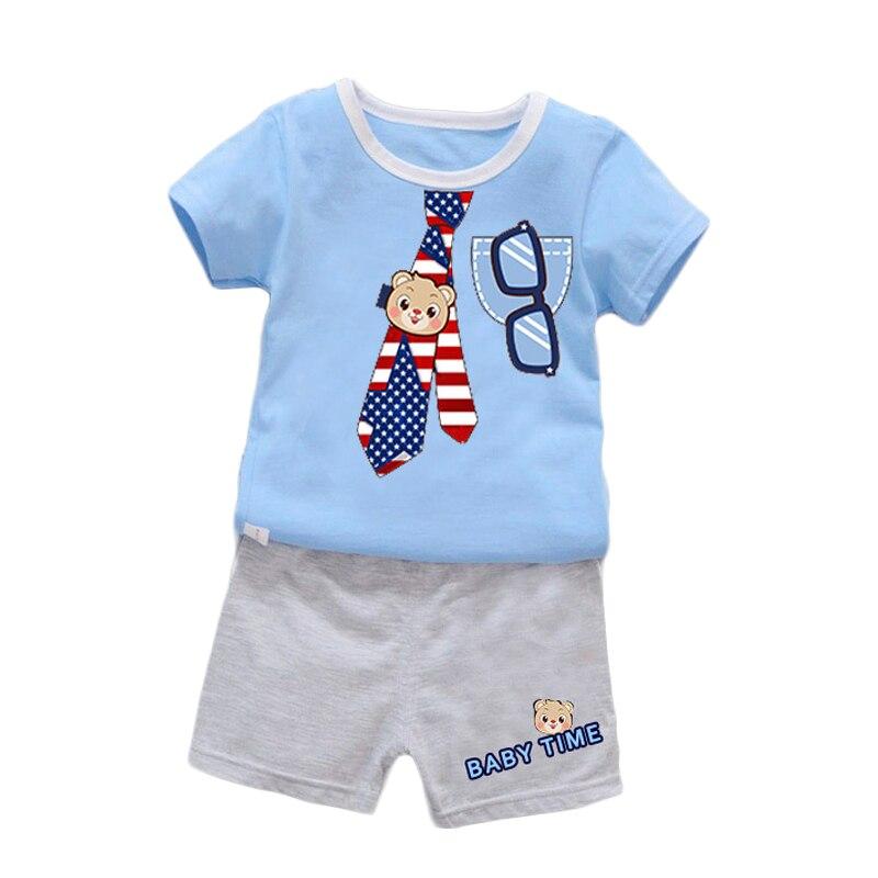 Careful 2018 Fashion 2pcs Summer Monkey Toddler Kids Baby Boy Clothes Vest Tops+pants Trousers Infant Outfit Set Clothing Sets