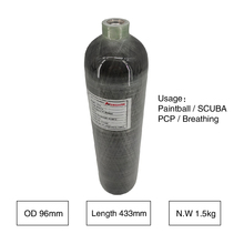 Acecare AC102 2L 4500PSI Aria Condor/PCP Fucile/Pistola Nuovo Composito In Fibra di Carbonio di Caccia Paintball SCUBA Diving Serbatoio cilindro