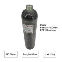 Acecare AC102 2L 4500PSI aire Condor/PCP Rifle/pistola nuevo compuesto de fibra de carbono caza Paintball buceo tanque cilindro