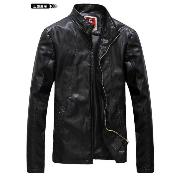 Aliexpress.com : Buy Plus size S 4XL Motorcycle leather jacket men ...