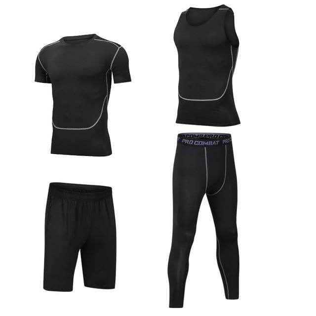 5PCS Running Sport Suit Men...