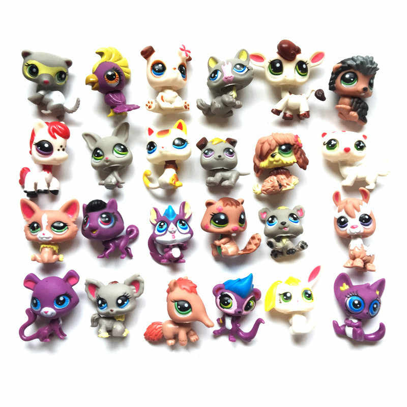 24 pcs/lot LPS Little Vinyl Toy Dolls Pet Action Figures Unicorn Kitty Dogs Mini Figures Birthday Toys for Children Animals Sets