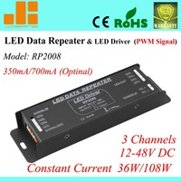 Free Shipping Constant Current Power Amplifier Pwm Data Repeater LED Driver 350mA 700mA Optional RP2008
