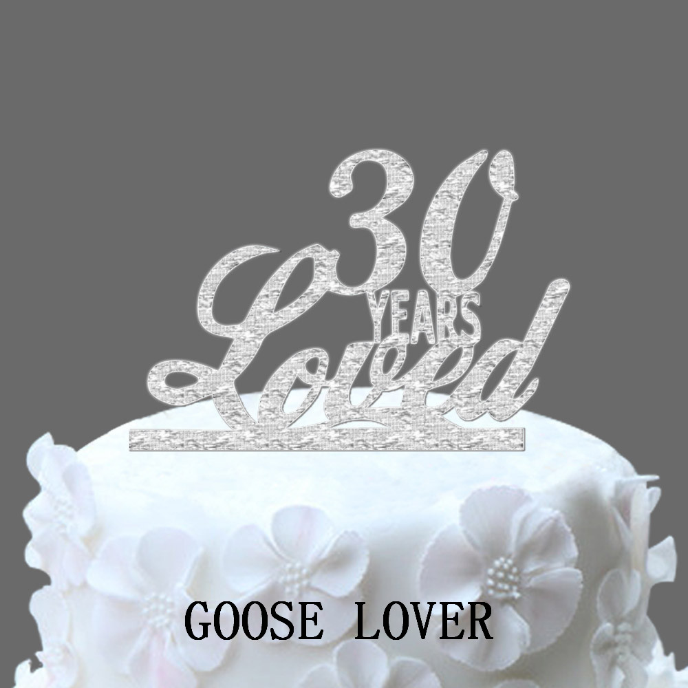 Birthday Cake Topper With Custom Age Years In Love Elegant Unique Wedding