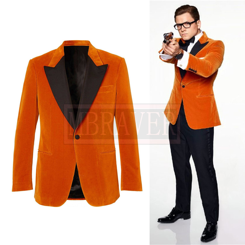 Kingsman 2 Eggsy Jacket Cosplay Costume Halloween Costumes