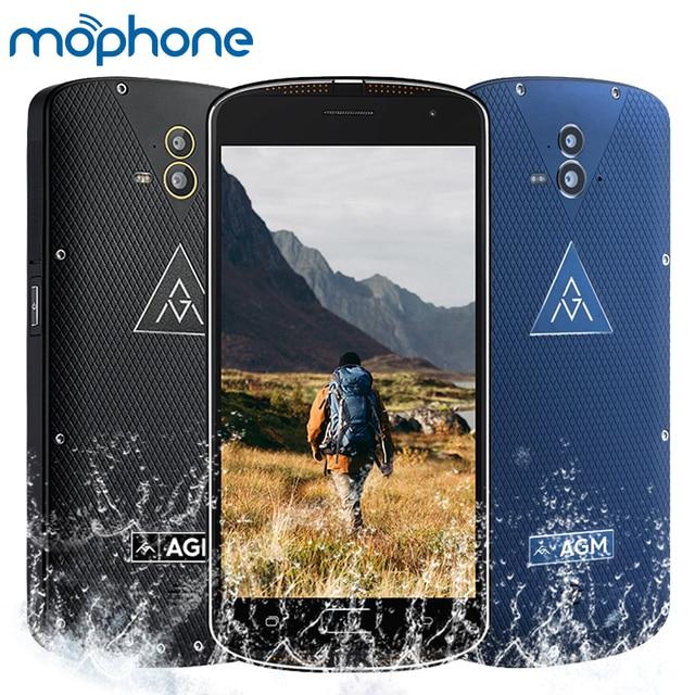 Original AGM X1 Tri-proof Smartphone 4G 5.5inch Qualcomm Snapdragon 617 Octa-core 4GB+ 64GB 5400mAh Large Battery Cell Phone