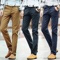 2016 New Fashion Mens Straight Cargo Pants Men Casual Slim Fitness  Khaki Blue Black Trousers Harajuku Large Sizes