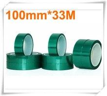 Высокое качество 0.06 мм * 100 мм * 33 м Зеленый ПЭТ Ленты Привет-temp PCB Паяльная Маска