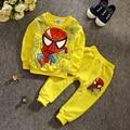 ST186 Мальчиков 2 шт.. паук детская одежда набор мальчиков одежда Бэтмен костюм детей спорт установить с длинным рукавом детская одежда розничная