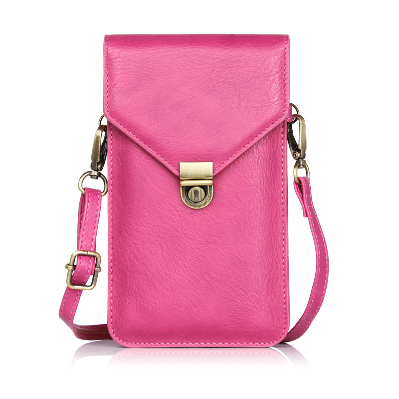 6.3&#8221;Phone Bag Universal PU Leather <font><b>Pouch</b></font> Crossbody Bags For Iphone 7 7plus fanny pack handbag for samsung galaxy S8 S8plus bag