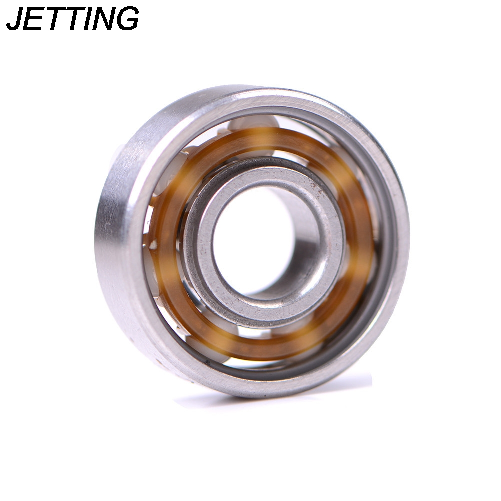 JETTING 1pc Black 608 Ball Bearing For Finger Spinner Wear Resistant Skateboard Bearings Ceramic Alloy Inline Speed image